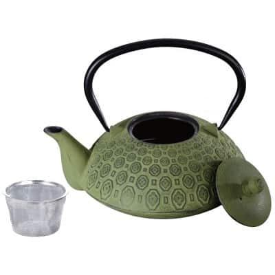 ceainic de fonta verde